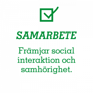 Samarbete – Främjar social interaktion och samhörighet.