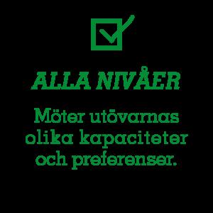 Alla nivåer – Möter utövarnas olika kapaciteter och preferenser.